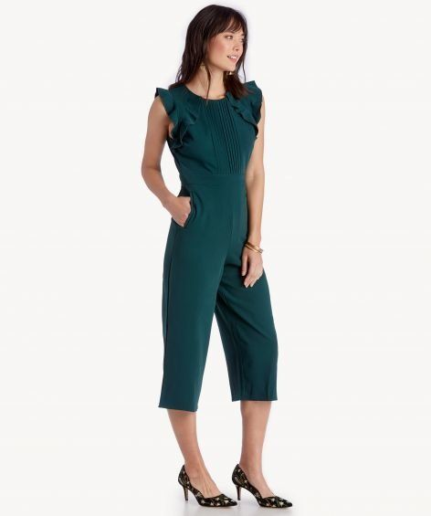 """Get it on <a href=""""https://www.solesociety.com/kaia-jumpsuit.html?color=emerald"""" target=""""_blank"""">Sole Society for $167</a>."""