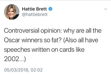 The tweet from Brett which was deleted