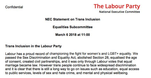 Labour's NEC Equalities Committee