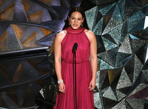 Actor Daniela Vega at the Oscars.
