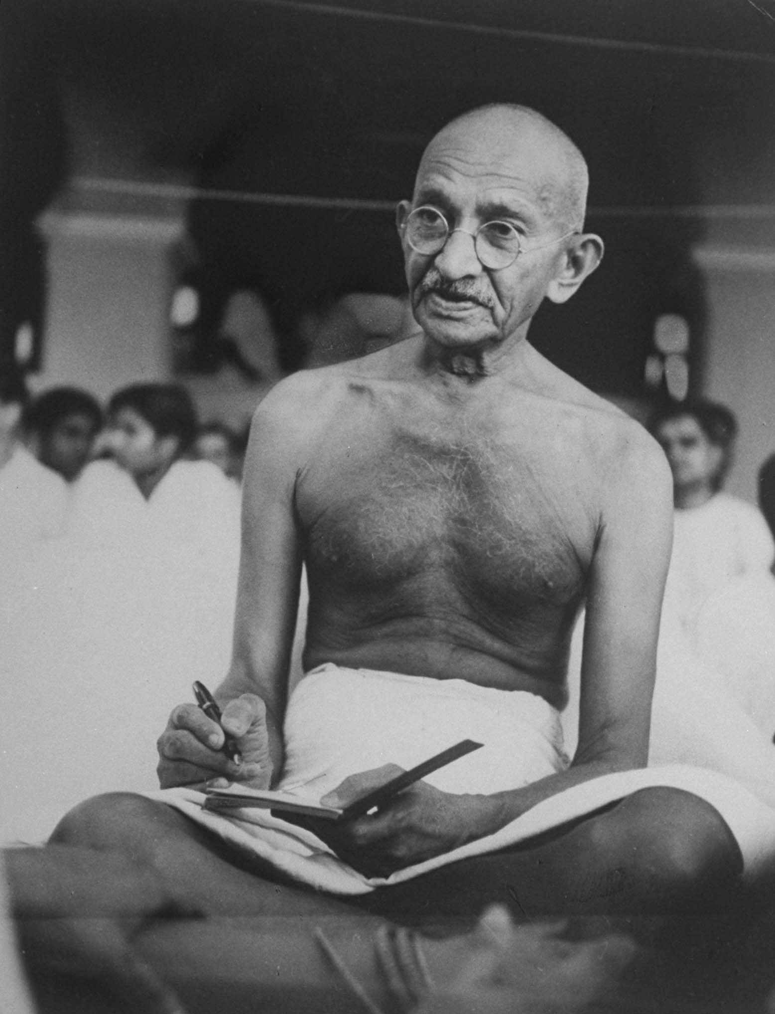 Mohandas K. Gandhi was a key leader of India's independence movement.
