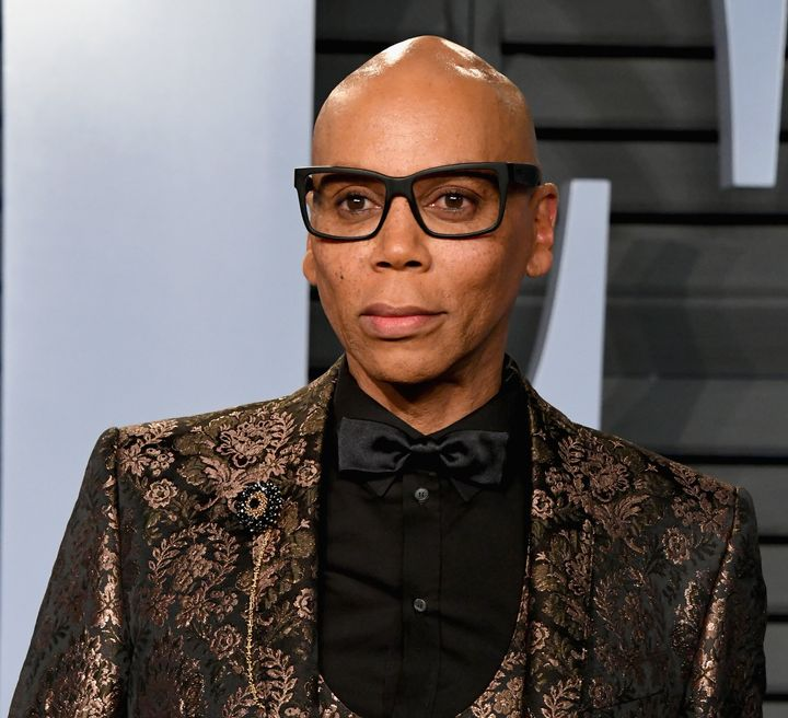 RuPaul attends the 2018 Vanity Fair Oscar Party hosted by Radhika Jones on Sunday in Beverly Hills, California.