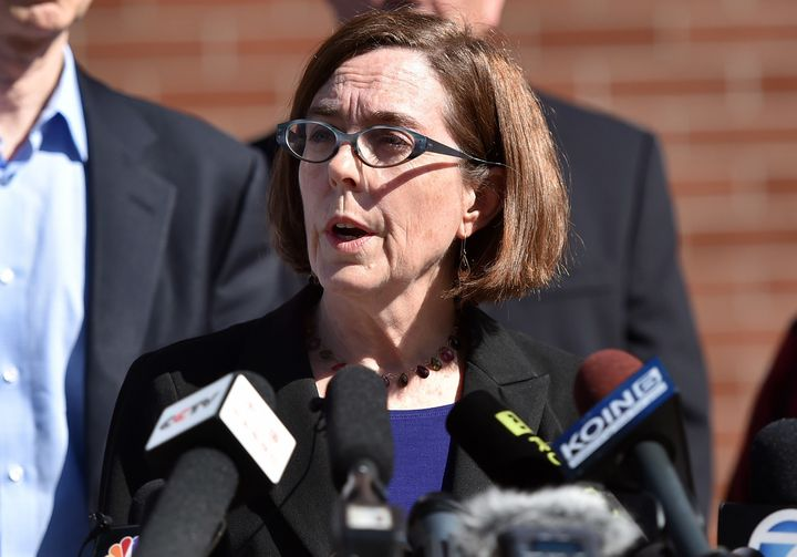 """I'm hopeful that the tide is turning on our nation's gun debate,"" Gov. Kate Brown said."