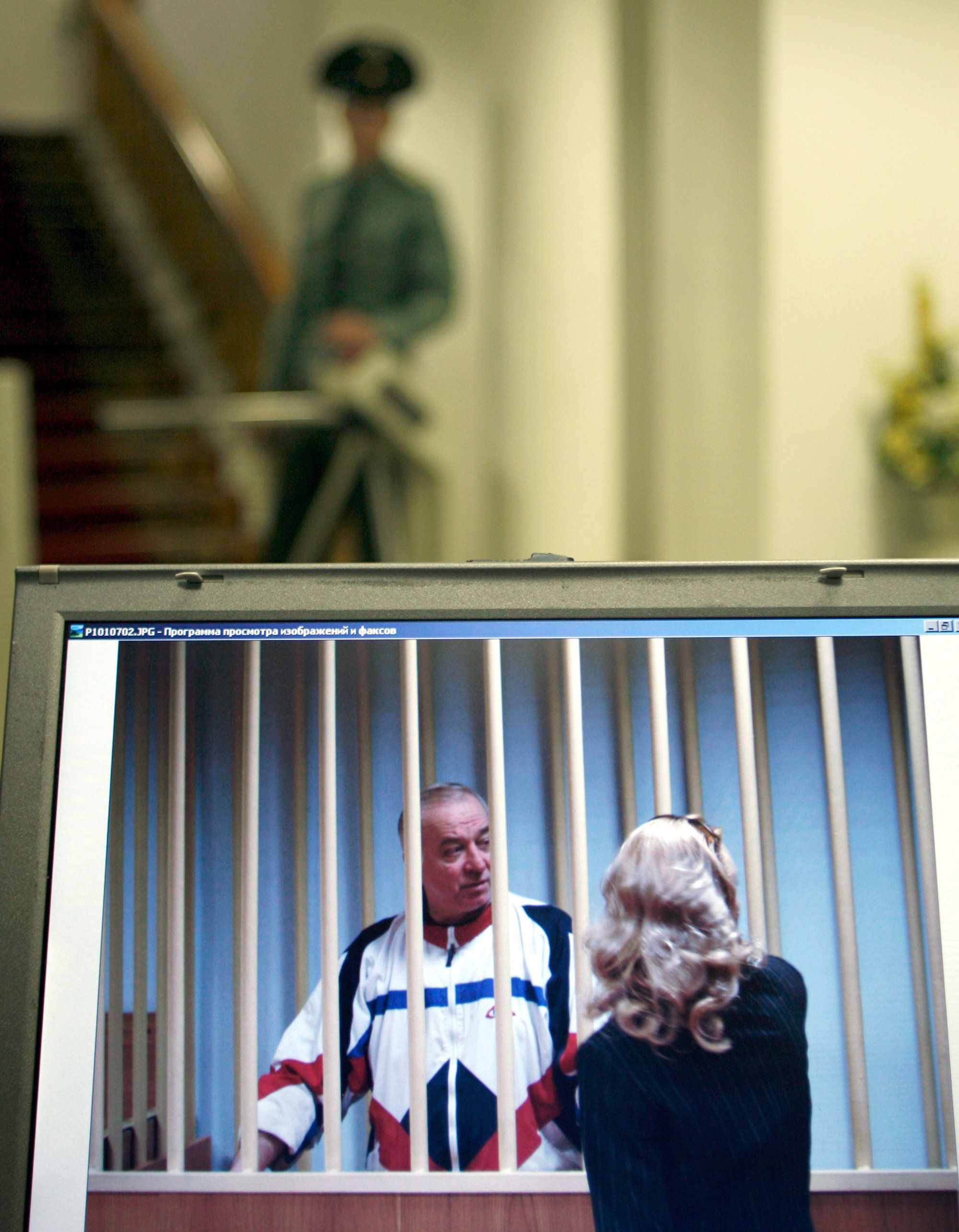 Sergei Skripal outside a courtroom in Moscow in