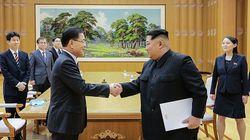 대북 특사단이 김정은에게 문재인 대통령 친서를