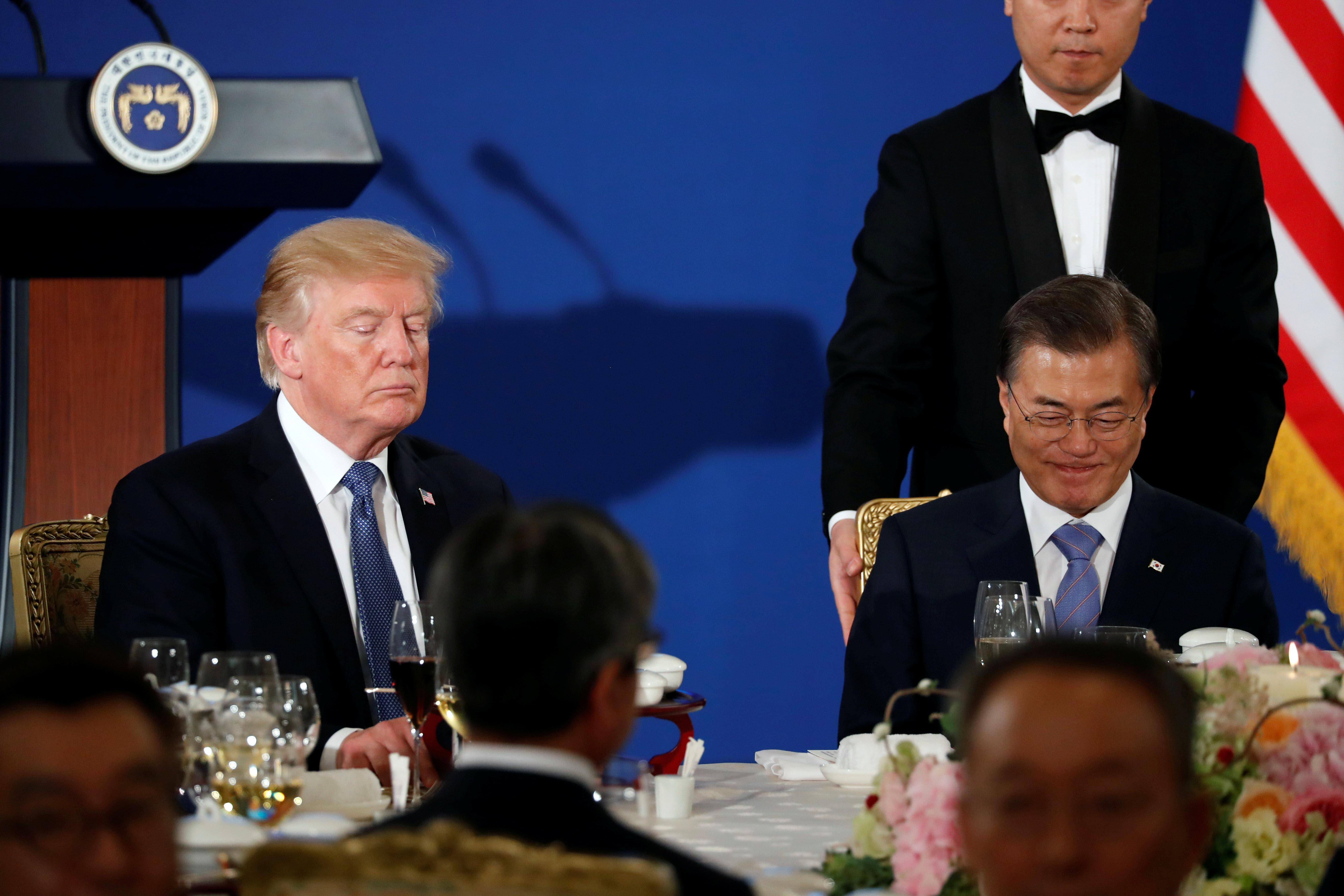 Trump hails 'possible progress' on talks with N Korea