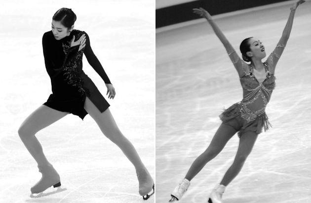 피겨스케이팅 여자 싱글 역사상 최고의 라이벌로 꼽히는 김연아(좌)와 아사다 마오. 두 선수는 똑같이 1990년 9월