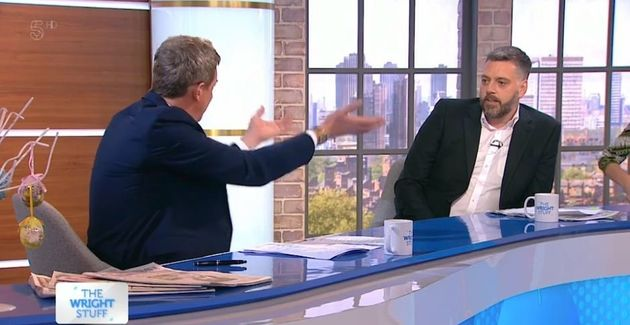 Iain Lee was furious as Matthew Wright pressed him on his