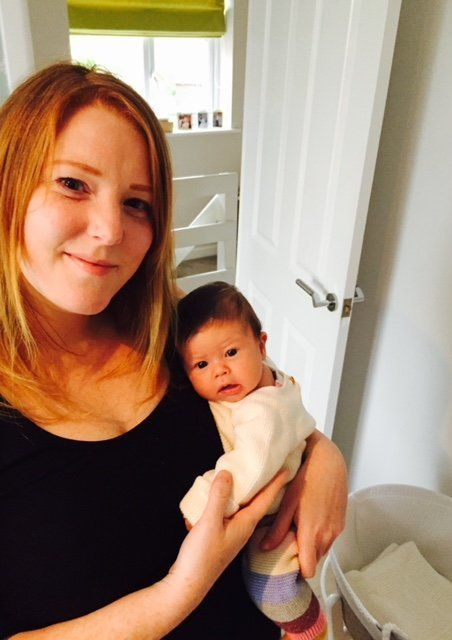 Lynsey Hartley and her daughter Bo, who was born on 31 October 2017.