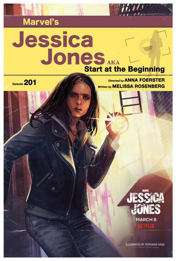 "Episode 201: ""AKA Start at the Beginning""<br> Artist: Stephanie Hans"