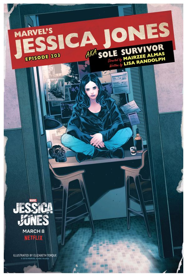 "Episode 203: ""AKA Sole Survivor""<br> Artist: Elizabeth Torque"
