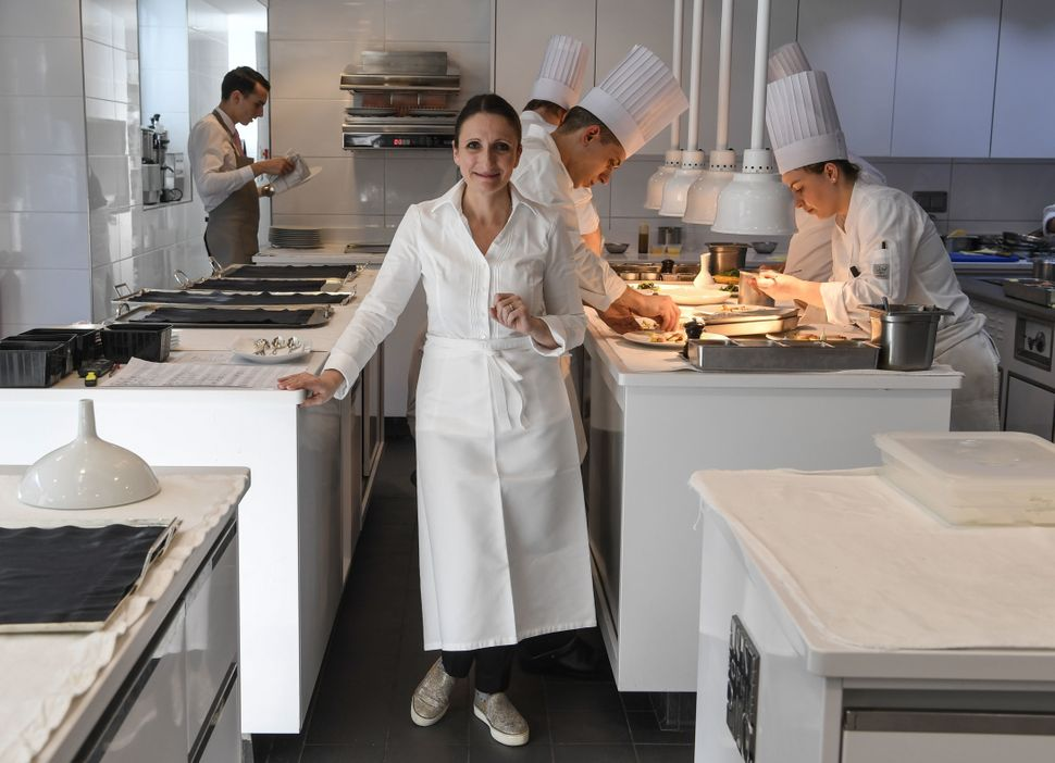 Chef Anne-Sophie Pic, the only female three-starred Michelin chef in France and one of a handful in the world, poses on March