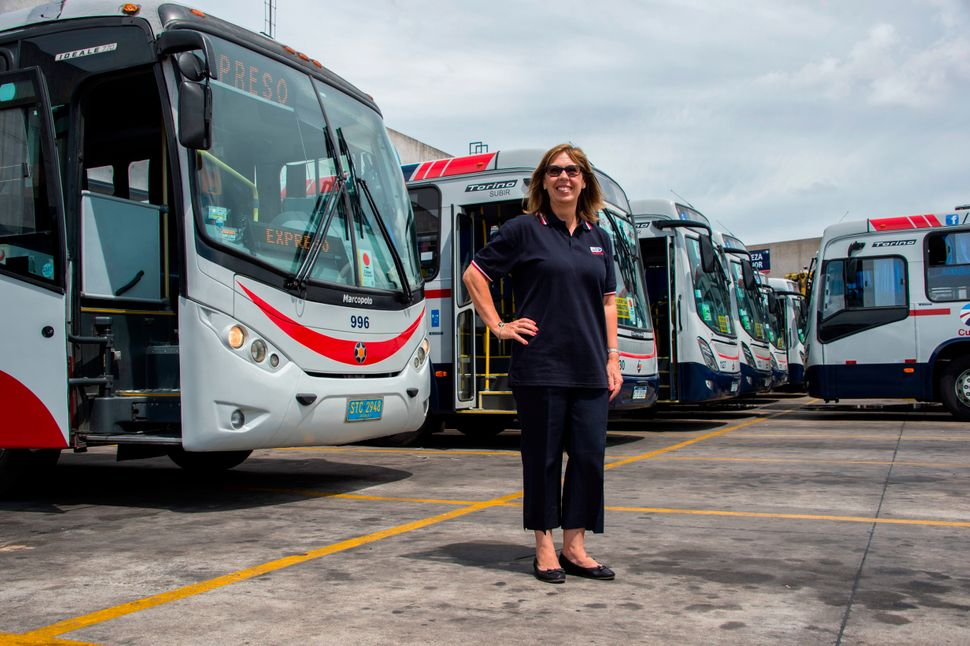 Carmen Cousello, 58, was Uruguay's first female bus driver in 1998. Here she poses for a picture in Montevideo, Uruguay, on F