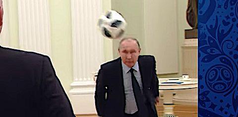 Vladimir Putin Juggles Soccer Ball To Hype World Cup