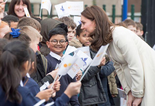 The Duchess of Cambridge visited Pegasus Primary School in Oxford