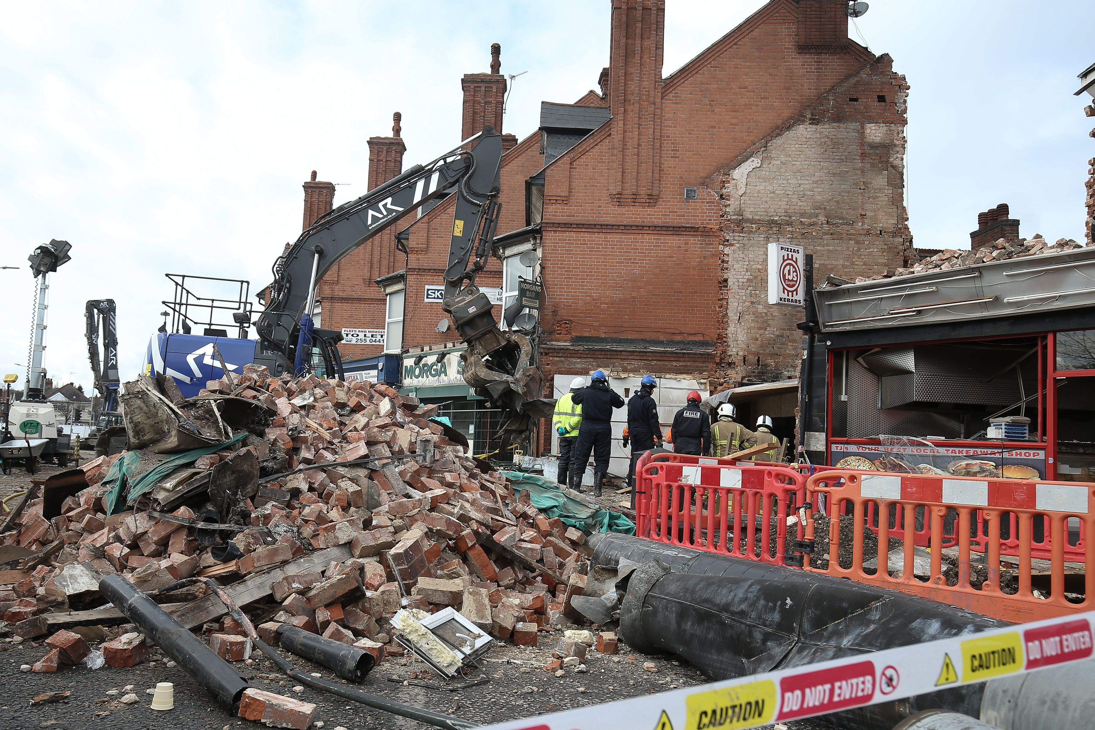 Five people were killed in Leicester when a Polish supermarket and a flat were destroyed in an explosion