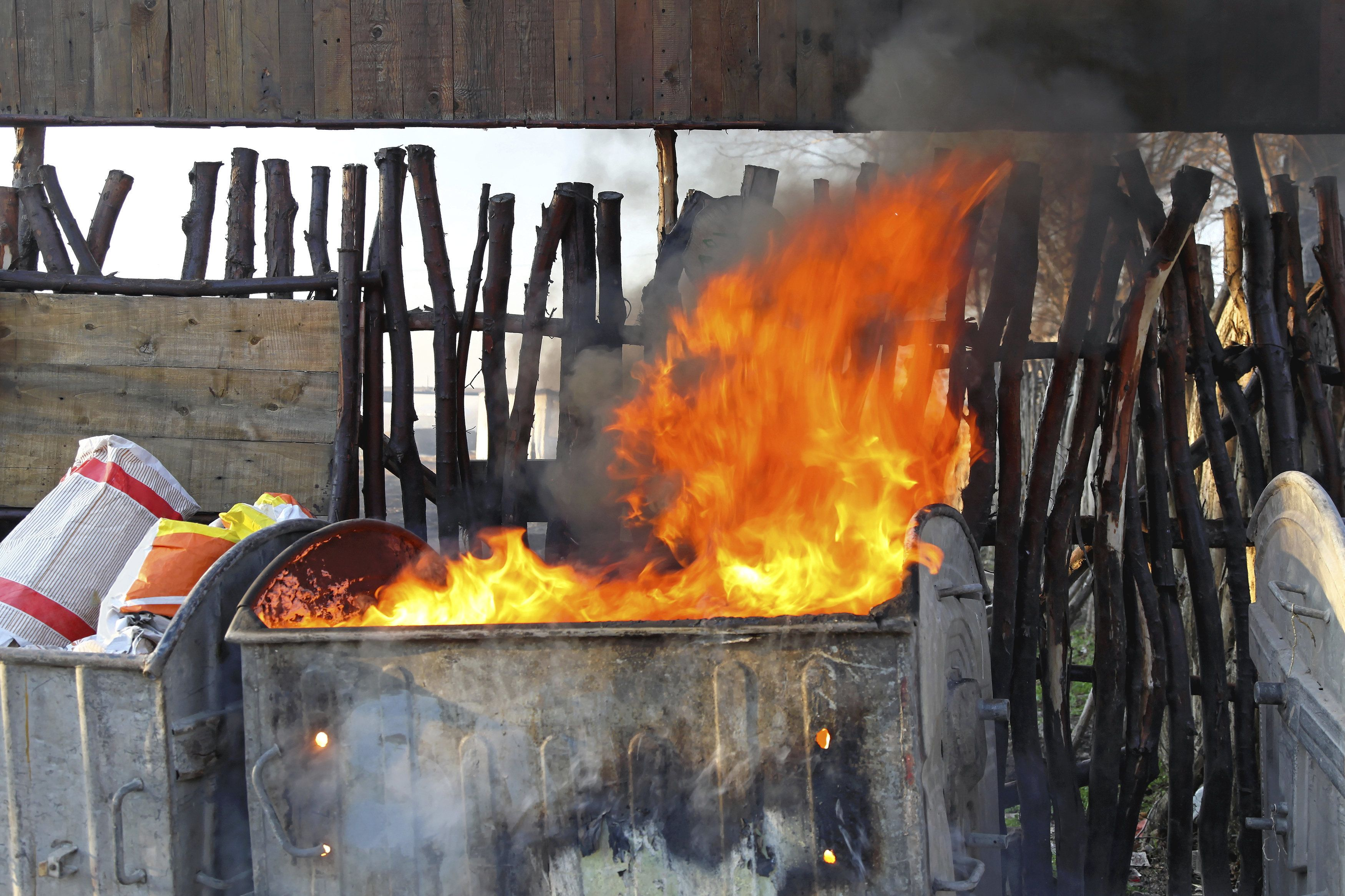 """The original meaning of """"dumpster fire."""""""