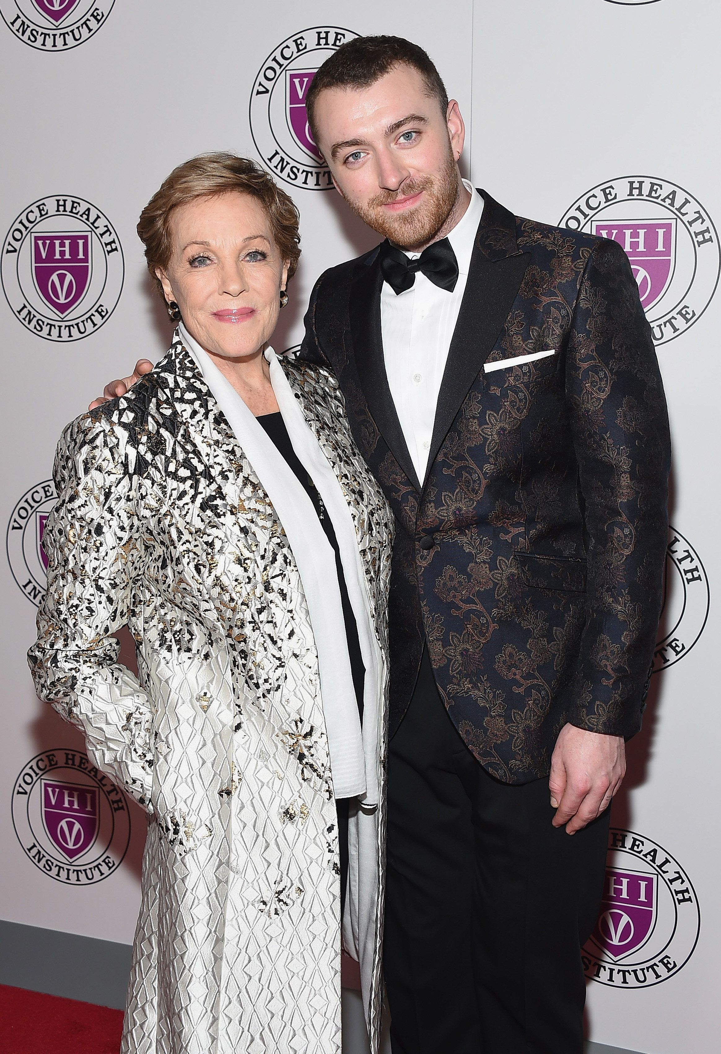 NEW YORK, OH - MARCH 05:  Event honoree Julie Andrews and singer Sam Smith attend the 'Raise Your Voice' concert honoring Julie Andrews at Alice Tully Hall, Lincoln Center on March 5, 2018 in New York City.  (Photo by Gary Gershoff/WireImage)