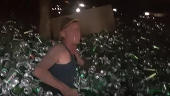 Swimming in the beer pit
