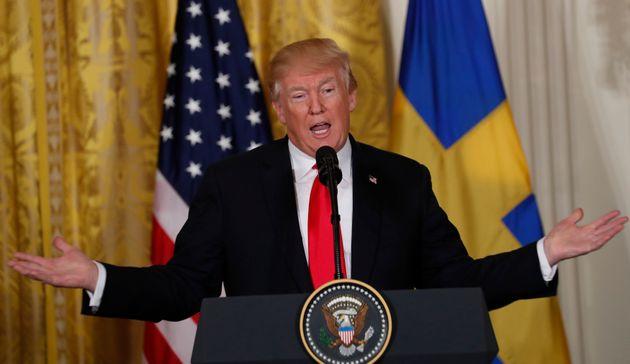 트럼프가 1년 전 거짓으로 판명난 '어젯밤 스웨덴에서 일어난 일'을 또