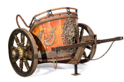 "A replica chariot from ""Gladiator."""