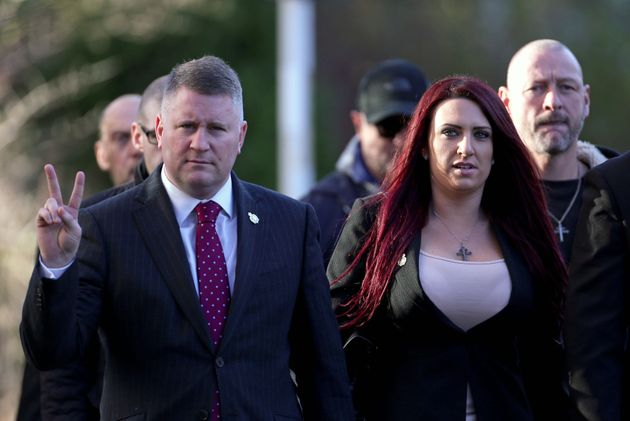 Paul Golding (left) and Jayda Fransen have been jailed for hate