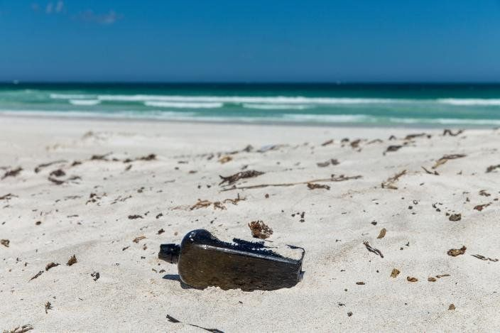 Oldest message in a bottle discovered at Wedge