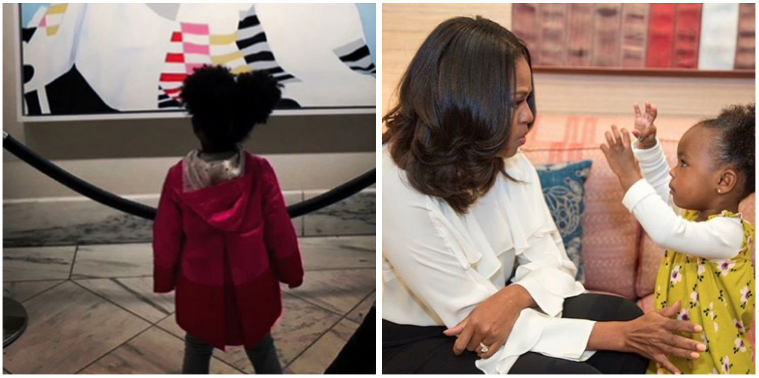 Michelle Obama Dances With 2-Year-Old Who Went Viral For Admiring Her