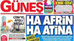 «Τι Αφρίν, τι Αθήνα». Το προκλητικό (και κάπως απειλητικό) δημοσίευμα τουρκικής