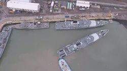 Βίντεο: Πώς «παρκάρουν» τα πολεμικά πλοία. Οι κινήσεις ακριβείας