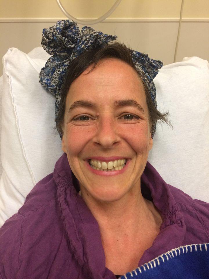 Susan getting chemo.
