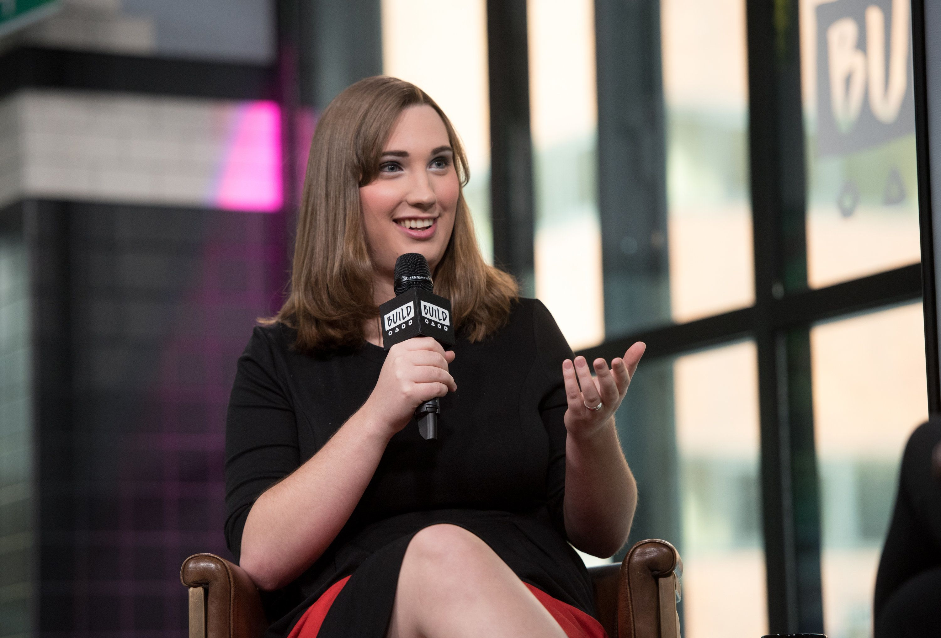 NEW YORK, NY - MARCH 06:  Sarah McBride visits Build Series to discuss 'Tomorrow Will Be Different: Love, Loss, and the Fight for Trans Equality' at Build Studio on March 6, 2018 in New York City.  (Photo by Noam Galai/Getty Images)