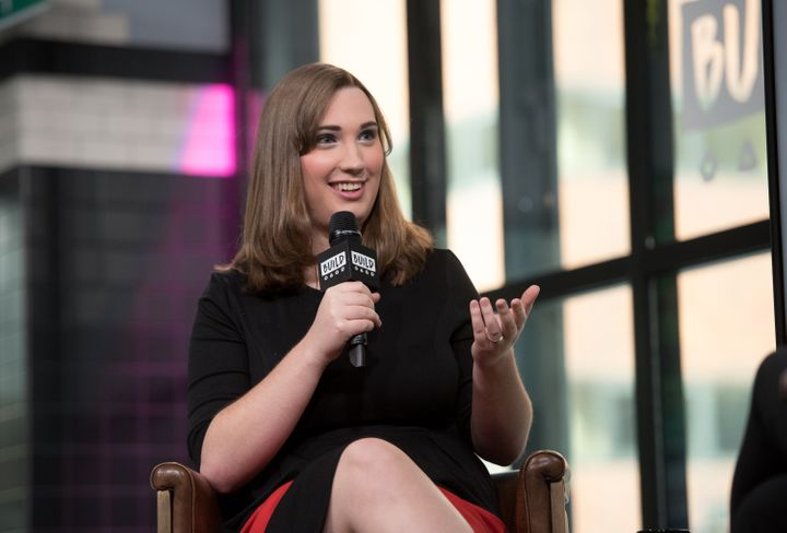 Sarah McBride discussesher new book as part of the Build Series in New York on March 6, 2018.