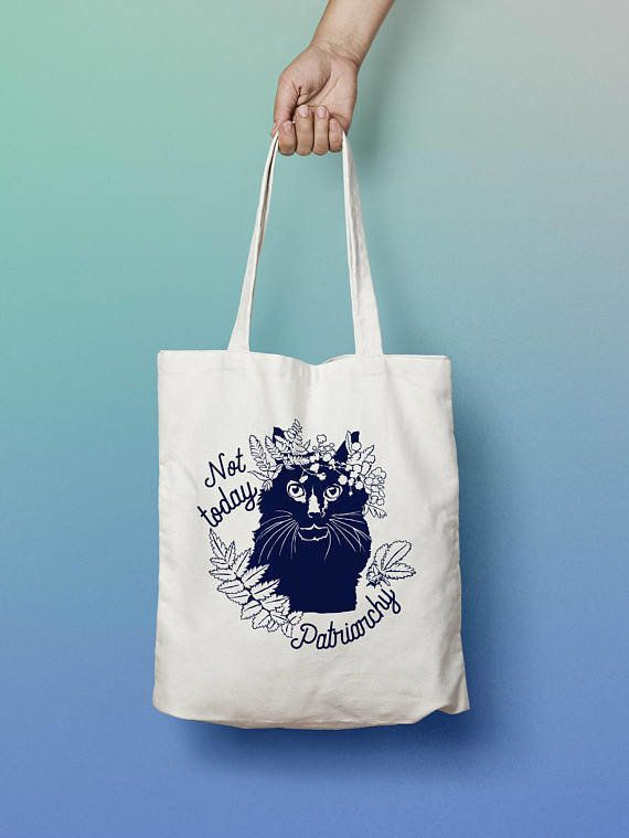 "Get it <a href=""https://www.etsy.com/listing/524131224/feminist-tote-bag-not-today-patriarchy"" target=""_blank"">here</a>.&nbsp"