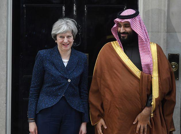 Theresa May welcomes the Saudi Crown Prince to