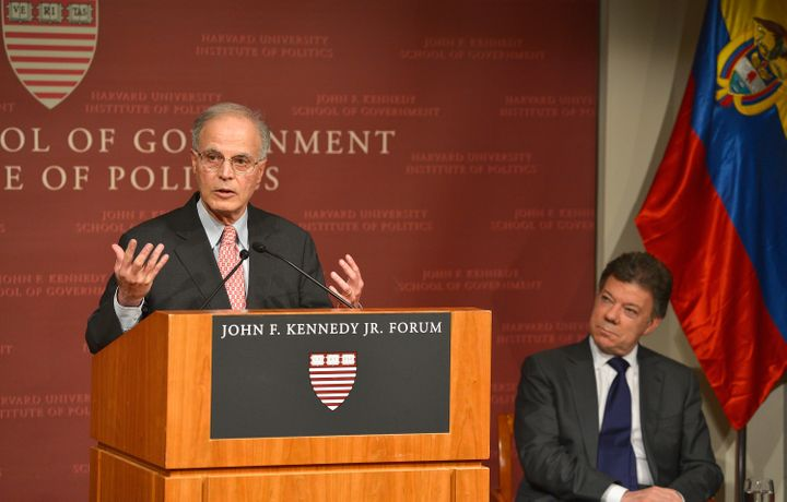 Harvard University professor Jorge I. Dominguez (seen speaking in 2013) announced his retirement after being accused of sexua