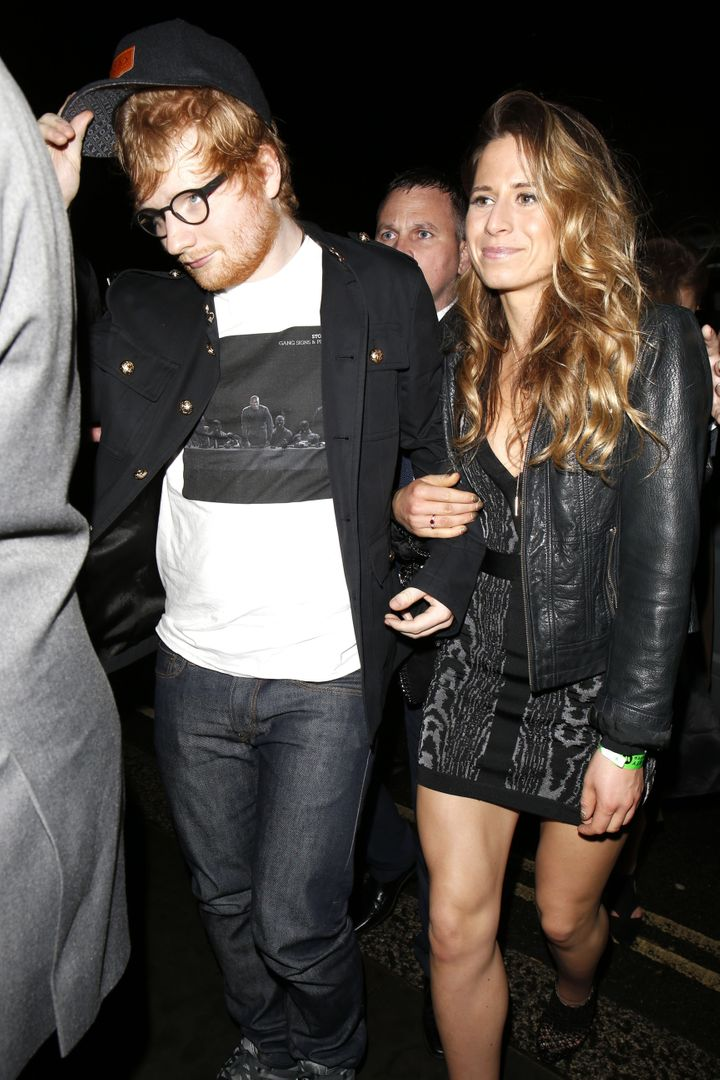 Ed Sheeran and Cherry Seaborn.