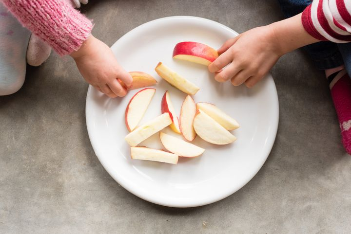 Apples with peanut butter or cheese is one snack option.