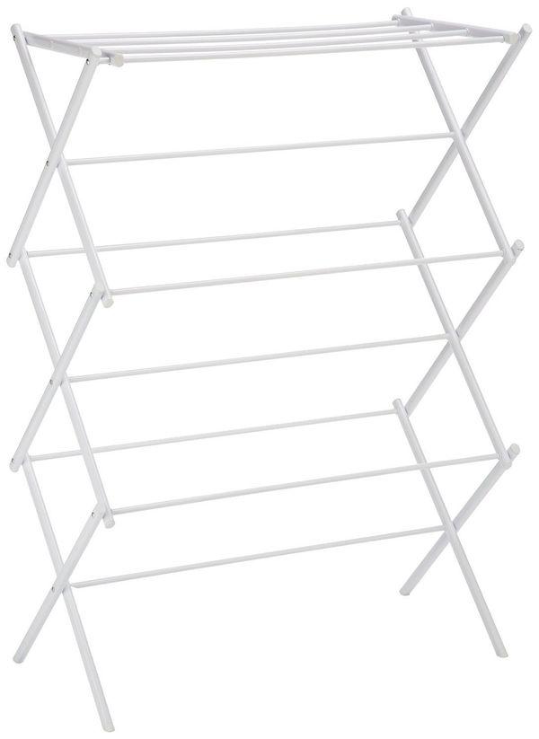 "Get it <a href=""https://www.amazon.com/AmazonBasics-Foldable-Drying-Rack-White/dp/B00H7P1GPO/ref=sr_1_4?amp=&ie=UTF8&keywords"