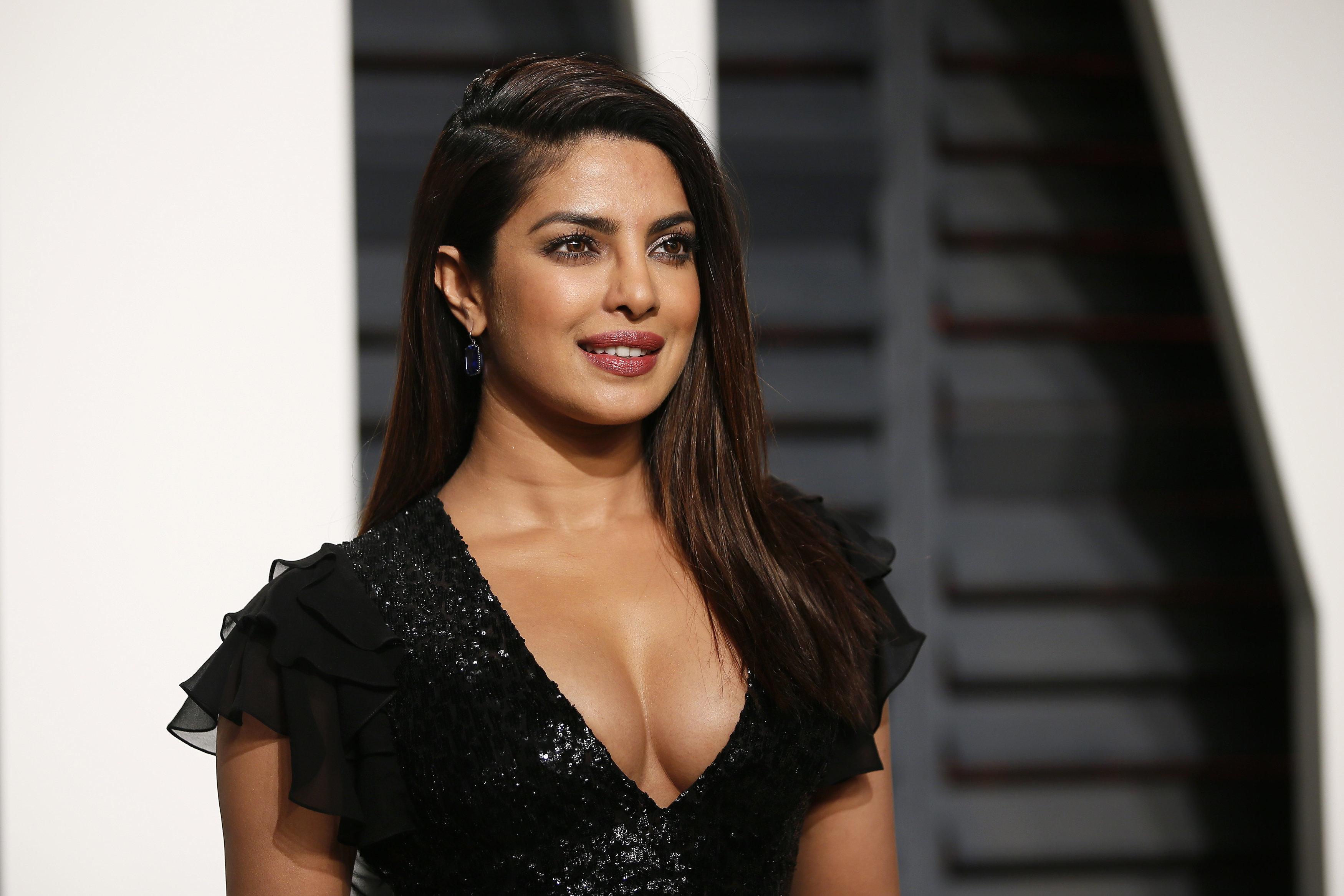 Priyanka Chopra at the 2017 Oscars Vanity Fair Party.