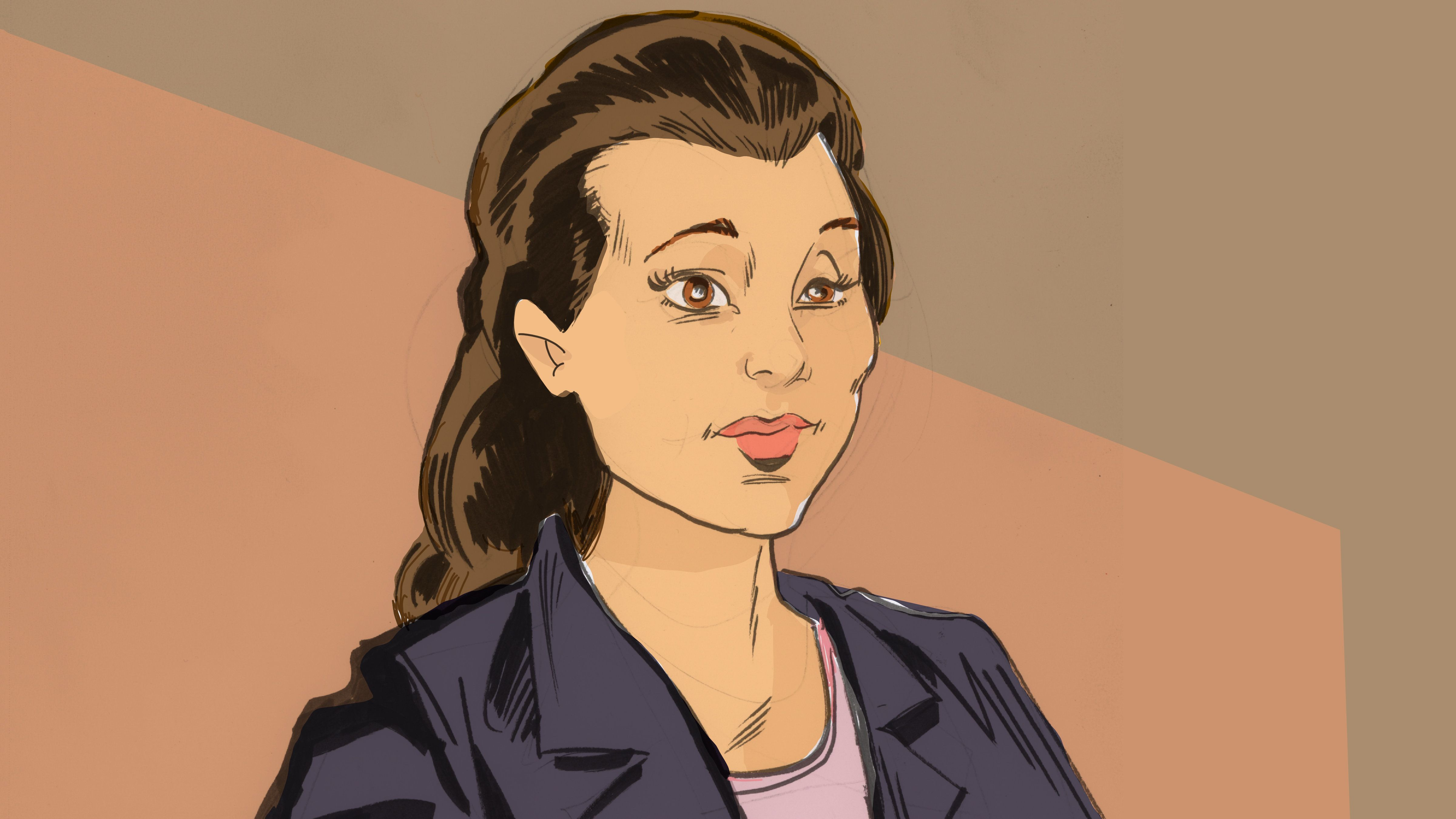 In a court sketch, Noor Salman is shown at jury selection last week.