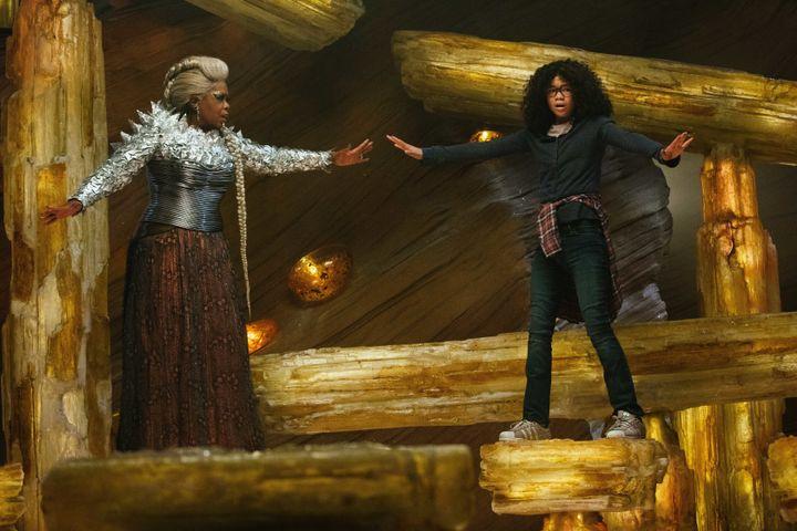 "Oprah Winfrey and Storm Reid in ""A Wrinkle in Time."""