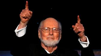 Composer John Williams gestures before accepting the American Film Institute's (AFI) 44th Life Achievement Award at Dolby theatre in Hollywood, California U.S., June 9, 2016. REUTERS/Mario Anzuoni