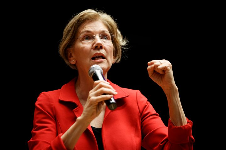 Massachusetts Sen. Elizabeth Warren announced on Wednesday that she had sent $5,000 donations to every single state to h