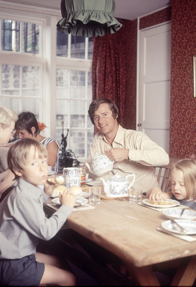 Bill Roache pictured in 1970 with his then wife Anna Cropper and children Linus and