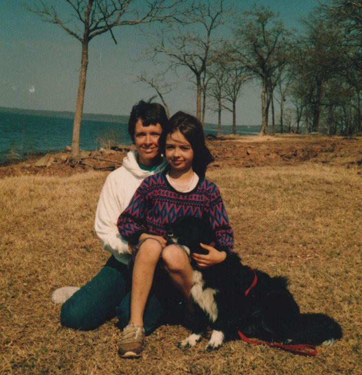 The author with her mother, Easter Sunday, 1986.