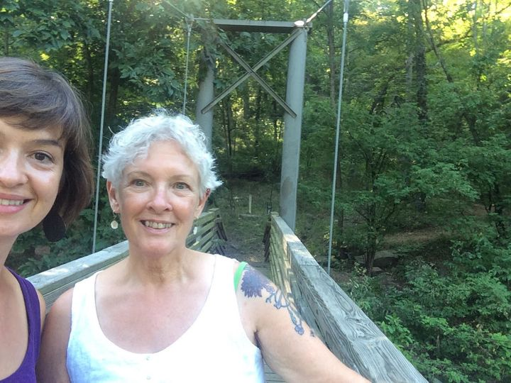 The author with her mother at Devil's Den State Park, Arkansas, ...