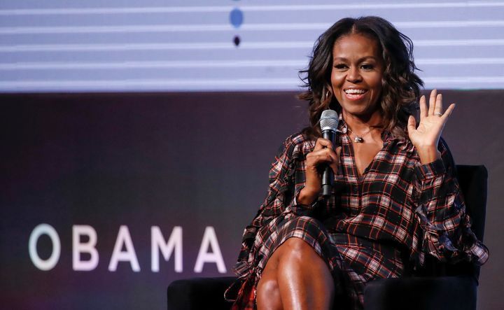 Michelle Obama speaks during the second day of the Obama Foundation Summit in Chicago on Nov. 1, 2017.