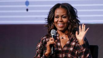 Former First Lady Michelle Obama speaks during the second day of the first Obama Foundation Summit in Chicago, Illinois, U.S. November 1, 2017. REUTERS/Kamil Krzaczynski