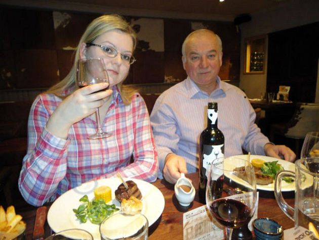 Sergei Skripal with his daughter Yulia. Both are critically ill in